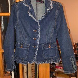 "Willi Smith ""frayed edges"" jean jacket"
